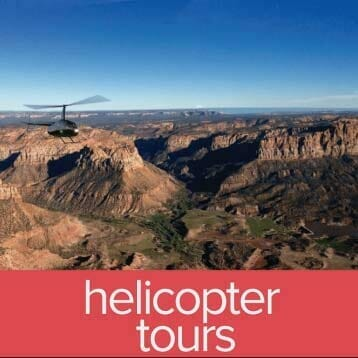 helicopter tours in zion