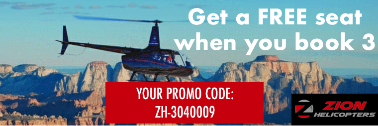 Zion Helicopter tours ad